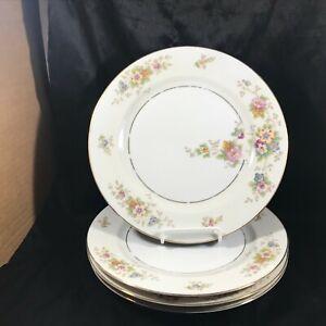 Set of 4 Vintage H C HEINRICH HC206 Floral Discontinued 1932 Dinner Plates