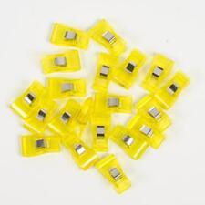 20 mittlere Stoffklammern - 3,3  x 1,8 cm - gelb