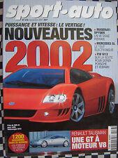 sport auto 2001 RENAULT AVANTIME 3.0 V6 / MERCEDES SL 500 / ASTON VANQUISH
