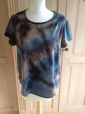 EYE CATCHING REISS MULTICOLOURED T SHIRT STYLED TOP UK SIZE S (8) NWOT