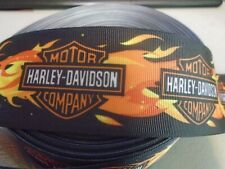 2 INCH WIDE HARLEY DAVIDSON GROSGRAIN  RIBBON SOLD BY THE YARD