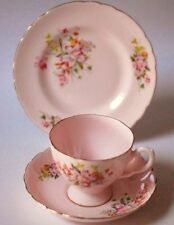 TUSCAN Rosa Tea TAZZA PIATTINO Tè PIASTRA TRIO VINTAGE INGLESE Cina TEA PARTY FIORE