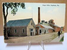 1909 Postcard Paper Mills Topsham Maine