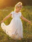 Flower Girl Dress Maxi Flower Girl Dress White Flower Girl Dress