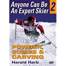 Anyone Can Be An Expert Skier 2 Powder Bumps Carving H Harb NEW factory sealed