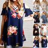 New Women Summer Cold Shoulder Floral T-Shirt Ladies Loose Tops Blouse Plus Size