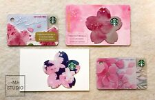 Starbucks 2019 China Sakura Gift Card 4pcs