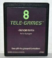 Memory Match Sears 8 Atari 2600 Video Game System Tele-games 8