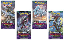 4 packs X Pokémon TCG Sun and Moon Guardians Rising Booster Trading Card Game