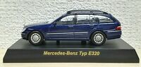 1/64 Kyosho MERCEDES BENZ TYPE E320 WAGON BLUE diecast car model
