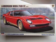 Hasegawa 1/24 Scale Lamborghini Miura P400 SV 1971 Model Kit - New - Item HC013