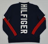 NWT Men's Tommy Hilfiger Crew Neck Pullover Sweater Sweatshirt w Pocket