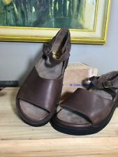 Basics shoe Company Handmade Dark Brown Leather Maryjanes Sandals 11C Moldable