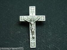 Jolie antique pin, cross, Jesus, Christ