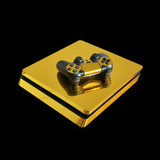 Gold Cover For Sony PS4 SLIM Sticker Playstation 4 Skin Decal Sticker Console