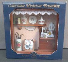 VTG Reutter Porzellan German MINIATURE Shadowbox Antique Dollhouse