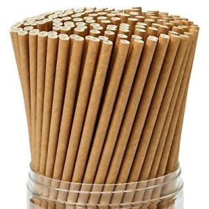 KRAFT / BROWN PAPER STRAWS BIODEGRADABLE  20cm PACKED IN 25s