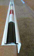"""96"""" White Aluminum Vinyl Insert Type Corner Molding RV Trailer 1"""" Leg x 1 1/4"""""""
