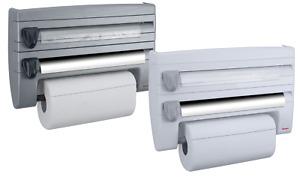 METALTEX Küchenrollenspender Wand-Rollenhalter Frischhaltefolie Schneidabroller