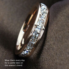 Saint Valentine's Day Genuine Rose Gold 9 ct simulated diamond Ring size 9