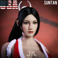 "1/6 King of Fighters Mai Shiranui Head Sculpt SUNTAN For 12"" PHICEN Figure ❶USA❶"