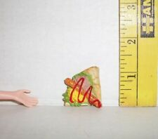 RE-MENT DOLL MINIATURE FOOD BREAKFAST CREPE HOT DOG ACCESSORY 1/6 SCALE RETIRED