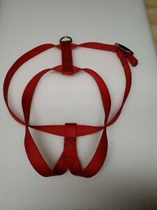 """Top Paw Dog Large Adjustable Harness 36"""" Red Heavy Duty 1/8"""" Thick. Pre-owned"""
