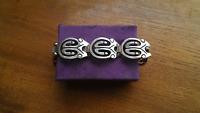 Mexico Taxco Eagle Mark Sterling Silver Link Panels Bracelet ~ 64.38 Grams