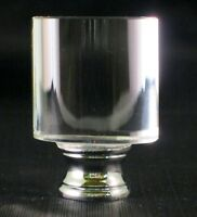 LAMP FINIAL-CYLINDER OPTIC CRYSTAL LAMP FINIAL WITH POLISHED CHROME BASE
