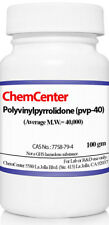 Polyvinylpyrrolidone, Povidone (PVP-40), k-30, Ultra Pure, 100 grams