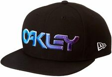 BNWT M-L Oakley Black 3D Logo 6 Panel Gradient Blackout Baseball Cap Hat 912110