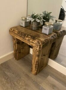Rustic reclaimed coffee table side table bench seat armchair hall table 3 colour