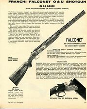 1972 Print Ad Franchi 28ga Falconet O&U Lightweight Field Model Buckskin Shotgun