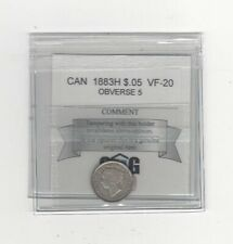 **1883H , Obv #5**, Coin Mart Graded Canadian,  5 Cent, **VF-20**