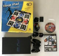 Sony PlayStation 2 PS2 Fat Console Controller 2 Games Dance Pad Mem Card TESTED