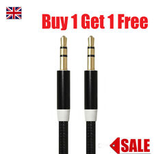 AUX Audio Cable Nylon Braided 3.5 Mm Jack for Apple iPad Samsung HTC Stereo