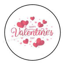 "30 HAPPY VALENTINE'S DAY ENVELOPE SEALS LABELS STICKERS PARTY FAVORS 1.5"" ROUND"