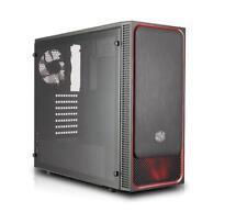 "Case MasterBox E500L, Red, USB3x2, Audio I&O, 1x 5,25"", 2x 2.5"", 2x 3.5"", 120mm"