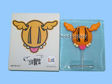Sync by MEDICOM TOY D*FACE D*DOG Vinyl FIGURE Orange Including Stand dface ddog