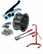 More details for pallet strapping banding kit pack set 1 coil / tools / metal seals / coil stand