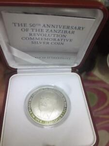 Zanzibar Commemorative Coin to mark 50 years of revolution - Silver Coin