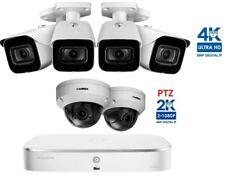 NEW Lorex 8 Channel PoE 2TB NVR Security 6 Cameras 4 Bullets 4K + 2 PTZ LNZ44P4B