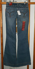 NEW Vanity Izzy Distressed Bell Bottom Jeans Women's Size 25 X 35