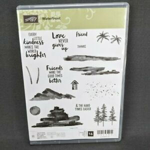 Stampin' Up Waterfront Photopolymer Stamp Set 16 Stamps Friends Kindness Love