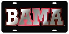 "UNIVERSITY OF ALABAMA ""BAMA"" Mirrored License Plate / Car Tag"