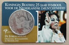 Nederland 2005 - 10 Euro Koningin Beatrix 25 jaar symbool Zilver Coincard