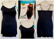 NWT SHAPERCISE 2XL 16-18 Black Cool Smoothing Light Control Full Slip~19.98 Tag!
