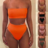 Sexy Women's Bandage Bikini Set Push-up Strap Swimsuit Bathing Swimwear UK 6-14