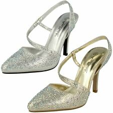 Anne Michelle Ladies Sling Back Evening Shoes
