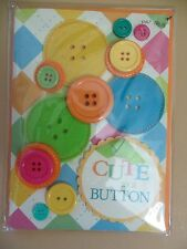 "*New* Papyrus - ""Cute as a button"" New Baby Card- Congratuiations (amazing)"